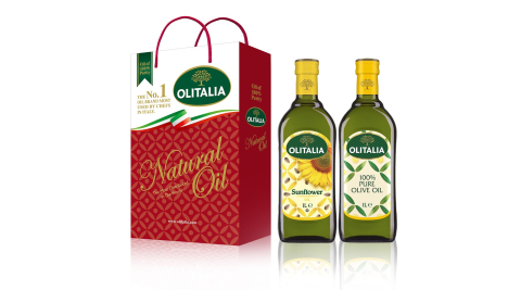 【Olitalia奧利塔】綜合禮盒組3組(橄欖1000ml+葵花1000ml/組;共6罐)