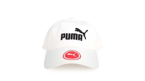 PUMA 基本系列棒球帽-遮陽 防曬 帽子 鴨舌帽 白黑@05291910@