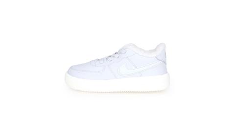 NIKE FORCE 1 18 SE-TD 女兒童運動鞋-保暖 慢跑 童鞋 灰白@AR1134001@