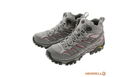 【MERRELL】MOAB 2 MID GORE-TEX 防水 登山健行鞋 女款 Vibram黃金大底 J06068 健行用運動鞋
