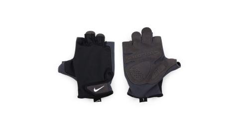 NIKE 男訓練手套-重量訓練 健身 半指手套 黑白@NLGC5057XL@