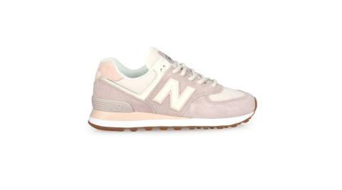 NEWBALANCE 女復古慢跑鞋- 麂皮 復古 574系列 NB N字鞋 粉紫白淺粉@WL574SAX@