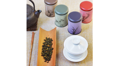 四君子‧四種台灣茶精巧罐禮盒