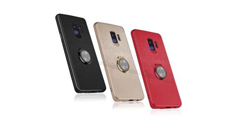 XUNDD 三星 Samsung Galaxy S9+/S9 Plus 奢華皮革指環扣支架手機殼