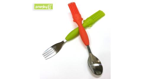 Pranky B 趣味刷刷造型湯匙叉子組