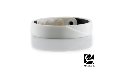 MASSA-G【ARC Solo-White】鍺鈦手環