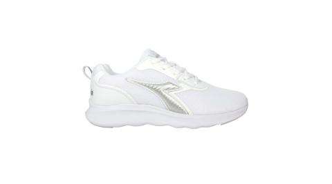 DIADORA 男段運動鞋-慢跑 避震 反光 白銀@DA71186@