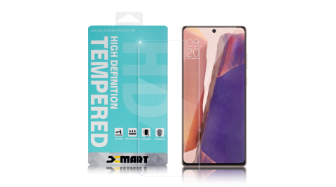 Xmart for Samsung Galaxy Note 20 薄型9H玻璃保護貼-可指紋辯識款-非滿版