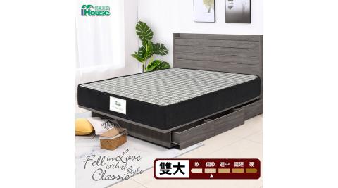 IHouse-巴寶莉 銀離子二線獨立筒床墊(偏軟) 雙大6尺