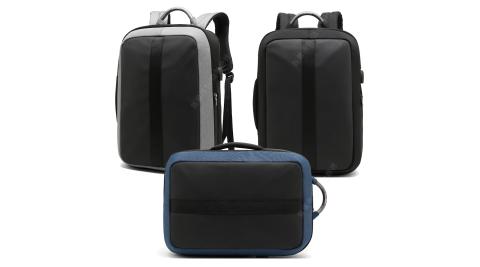 15.6吋 麥西里 大容量防潑水三用款 商務旅行平板筆電手提包兼後背包