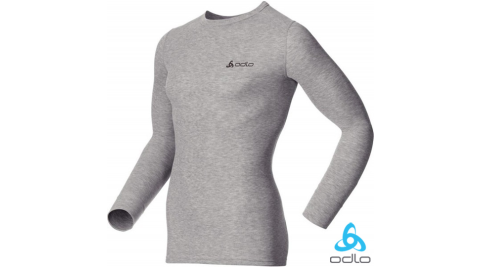 【瑞士 ODLO】WARM EFFECT 男專業機能型銀離子保暖內衣.長袖衛生衣.內搭衣.保暖內著/深麻灰 152022
