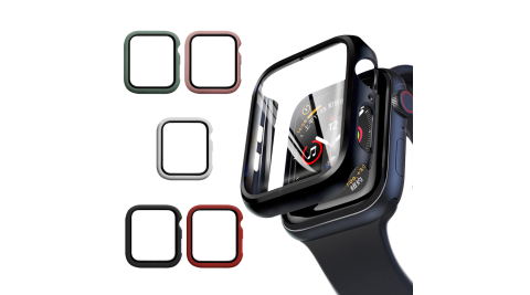 CITYBOSS for Apple watch一體成形式玻璃加保護殻-44mm
