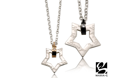 MASSA-G 【星空物語】金屬鍺錠白鋼對鍊