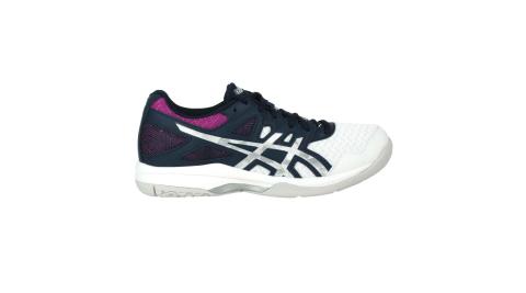 ASICS GEL-TASK 2 女排羽球鞋-排球 羽球 羽毛球 亞瑟士 墨藍銀紫白@1072A038-403@