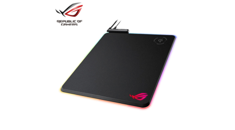 ASUS 華碩 ROG Balteus Qi 無線充電 RGB 硬質滑鼠墊
