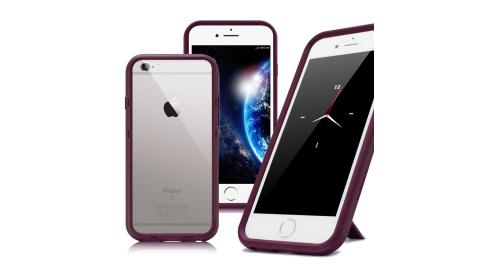 Thunder X iPhone SE2/iPhone 8 / iPhone 7 / 6s 防摔邊框手機殼-紫
