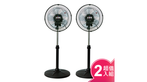 金展輝12吋八方吹多功能循環涼風扇2入組 AB-1211