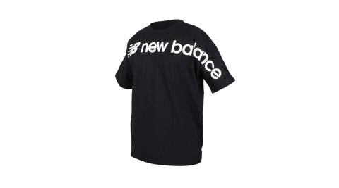 NEWBALANCE 男短袖圓領T恤-慢跑 NB 黑白@MT93514BK@