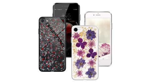 CITYBOSS for iPhone SE2/iPhone 8 /iPhone 7 /iPhone 6 4.7吋 繽紛星夜全包軟邊防滑手機保護殼 -金色飛燕/碎紅