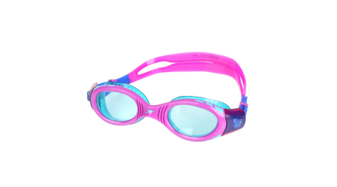 SPEEDO 兒童運動泳鏡-抗UV 防霧 蛙鏡 游泳 訓練 紫湖水綠@SD811595C586N@