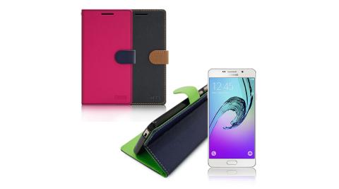 【台灣製造】FOCUS Samsung Galaxy A7 糖果繽紛支架側翻皮套