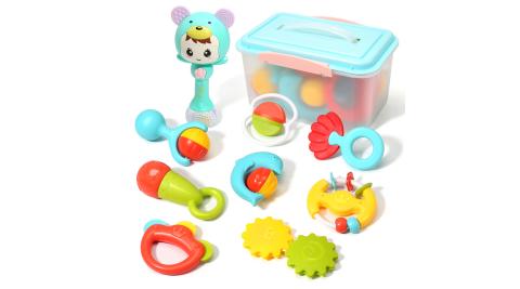 CuteStone 兒童聲光搖鈴玩具收納組