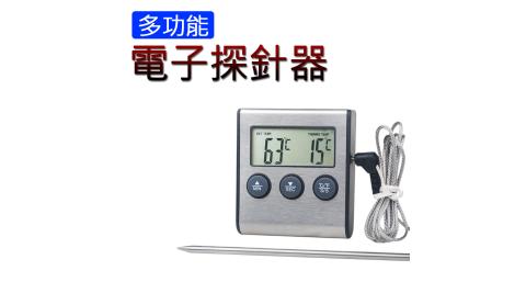 多功能高溫烤箱電子探針器 食品烤箱溫度計 測溫儀探針 電子探針溫度計
