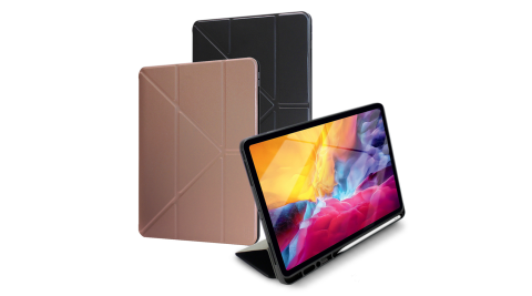 Xmart for 2020 iPad Pro 11吋 清新簡約超薄Y折帶筆槽皮套