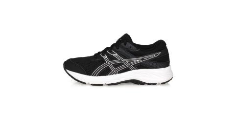 ASICS CONTEND 6 GS 男女中童慢跑鞋-運動鞋 亞瑟士 黑白@1014A086-001@