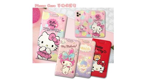 三麗鷗授權 凱蒂貓/雙子星/美樂蒂 iPhone 11 Pro Max 6.5吋 緞帶彩繪磁力皮套