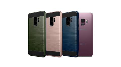 VXTRA 高仿金屬拉絲紋理 Samsung Galaxy S9 雙料手機殼