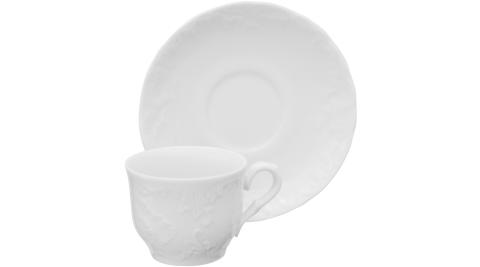 《EXCELSA》Elisa瓷製咖啡杯碟組(白80ml)