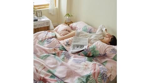 【KOKOMO'S扣扣馬】MIT天然精梳棉200織紗雙人加大床包3件組-希望植物園