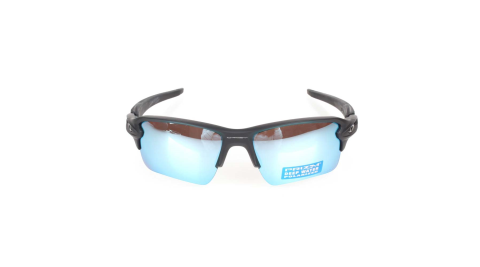 OAKLEY FLAK 2.0 XL 偏光太陽眼鏡-附硬盒鼻墊  防UV 慢跑 黑藍@OAK-OO9188-58@