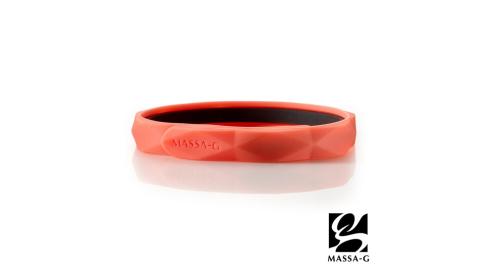MASSA-G【Argyle炫彩之環-橘】鍺鈦手環