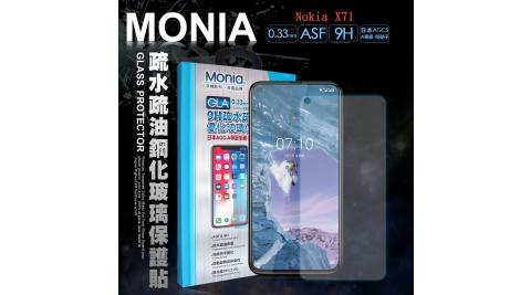 MONIA Nokia X71 日本頂級疏水疏油9H鋼化玻璃膜 玻璃保護貼(非滿版)