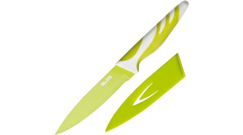 《IBILI》刀套+不沾蔬果刀(綠12.5cm)