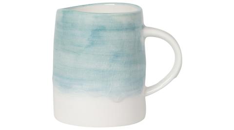 《NOW》裂紋瓷製馬克杯(湖水藍340ml)