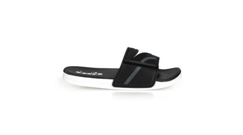 DIADORA 男雙密度運動拖鞋-海邊 海灘 戲水 游泳 沙灘 黑白灰@DA71138@