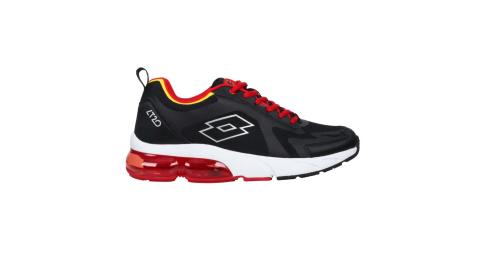 LOTTO男氣墊慢跑鞋路跑運動避震黑紅LT0AMR2390