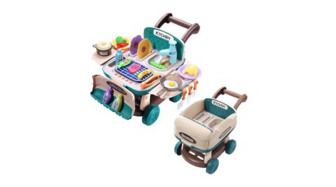 CuteStone 兒童購物推車烤肉玩具