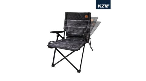 【KAZMI】KZM 彩繪民族風三段可調折疊椅 露營椅 椅子 折疊椅 躺椅