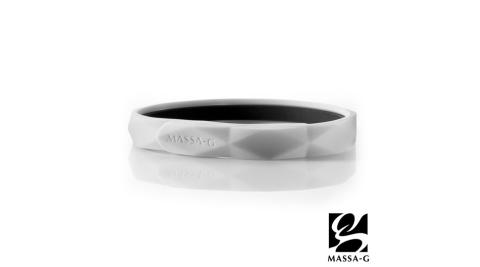 MASSA-G【Argyle炫彩之環-白】鍺鈦手環