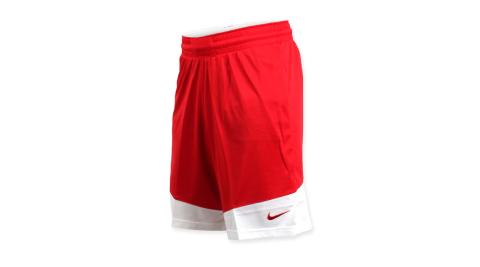 NIKE 男籃球針織短褲-路跑 慢跑 訓練 五分褲 紅白@867769658@