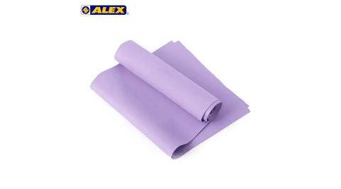 ALEX 伸展彈力帶厚度0.5MM-瑜珈繩 健身阻力帶 彈力繩 拉力帶 訓練帶 紫@C-4701@