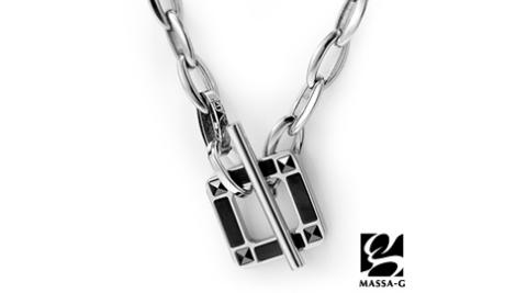 MASSA-G Deco系列【Loop】迴圈-黑 鍺鈦項鍊