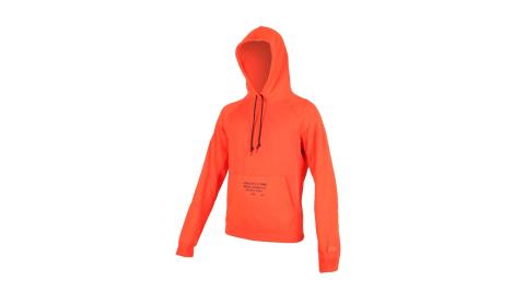 NIKE LEBRON 男內刷毛連帽T恤-籃球 帽T 大學T 保暖 長袖上衣 橘黑@AT3916-891@