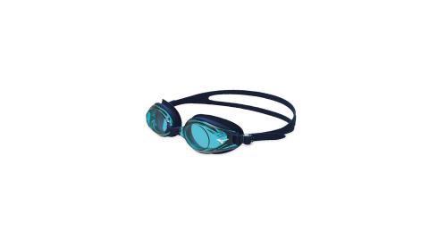 MIZUNO SWIM 日製-健康型墊片泳鏡-蛙鏡 游泳 海邊 美津濃 水藍黑@N3JE601000-19@