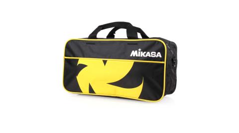 MIKASA 球袋-兩顆裝-排球 運動袋 手提袋 肩背袋 裝備袋 黑黃白@MKVL2C-BKY@