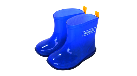 Stample日本製兒童果凍雨鞋(寶藍)